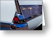 Mascots Greeting Cards - 1957 Chevy Bel Air Custom Hot Rod Greeting Card by David Patterson