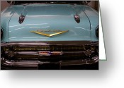 Mascots Greeting Cards - 1957 Chevy Bel Air Greeting Card by David Patterson