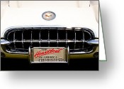 Mascots Greeting Cards - 1959 Chevy Corvette Greeting Card by David Patterson