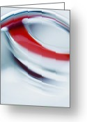 Vertical Abstract Greeting Cards - Abstract Colored Forms And Light Greeting Card by Ralf Hiemisch