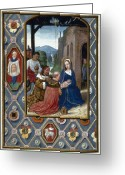Saint Joseph Greeting Cards - Adoration Of Magi Greeting Card by Granger