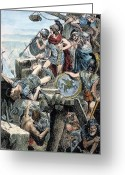 Wounded Warrior Greeting Cards - Alexander The Great Greeting Card by Granger