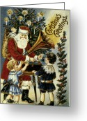 Artcom Greeting Cards - American Christmas Card Greeting Card by Granger