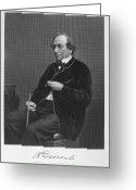 Signature Greeting Cards - Benjamin Disraeli (1804-1881) Greeting Card by Granger