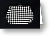 Chic Greeting Cards - Black And White Greeting Card by Joana Kruse