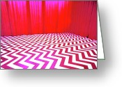 Dale Cooper Greeting Cards - Black Lodge Greeting Card by Luis Ludzska