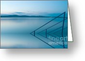 Rait Greeting Cards - Blue lake Greeting Card by Odon Czintos