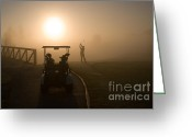 Club Greeting Cards - California Golf Course Sunrise Morning Golfers Greeting Card by ELITE IMAGE photography By Chad McDermott