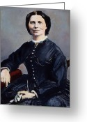 Daguerreotype Greeting Cards - Clara Barton (1821-1912) Greeting Card by Granger