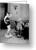 Striptease Greeting Cards - Clara Bow (1905-1965) Greeting Card by Granger