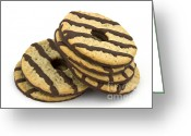 Oatmeal Greeting Cards - Cookies Greeting Card by Blink Images