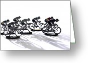Toy Greeting Cards - Cyclists Greeting Card by Bernard Jaubert