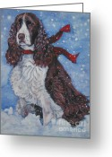 English Springer Spaniel Greeting Cards - English Springer Spaniel Greeting Card by Lee Ann Shepard