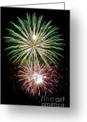 Photos Of Autumn Greeting Cards - Fireworks Greeting Card by Brent Parks