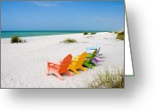 Surf Lifestyle Greeting Cards - Florida Sanibel Island Summer Vacation Beach Greeting Card by ELITE IMAGE photography By Chad McDermott