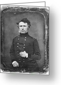 Daguerreotype Greeting Cards - Franklin Pierce Greeting Card by Granger