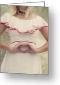 Blonde Photo Greeting Cards - Heart Greeting Card by Joana Kruse