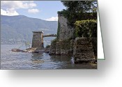 Old Bridge Greeting Cards - Isole di Brissago Greeting Card by Joana Kruse