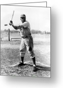 Athlete Greeting Cards - Jackie Robinson (1919-1972) Greeting Card by Granger
