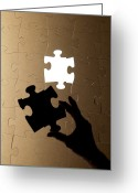 Game Piece Greeting Cards - Jigsaw Puzzle Greeting Card by Tek Image
