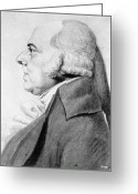 Physiognomy Greeting Cards - John Adams (1735-1826) Greeting Card by Granger