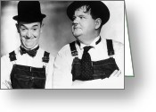 Bowtie Greeting Cards - Laurel And Hardy Greeting Card by Granger