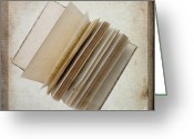 Pages Greeting Cards - Old book Greeting Card by Bernard Jaubert