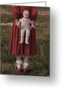Peasant Greeting Cards - Old Doll Greeting Card by Joana Kruse