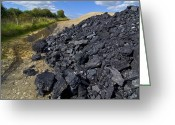 Mound Greeting Cards - Opencast Coal Mine Greeting Card by Chris Knapton