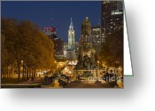 Philadelphia Greeting Cards - Philadelphia Skyline Greeting Card by John Greim