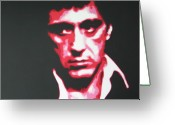 Robert Loggia Greeting Cards - Scarface Greeting Card by Luis Ludzska