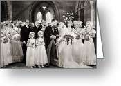 Bridesmaid Greeting Cards - Silent Film Still: Wedding Greeting Card by Granger