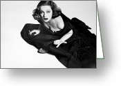 Smoker Greeting Cards - Tallulah Bankhead Greeting Card by Granger