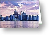 Architecture Greeting Cards - Toronto skyline Greeting Card by Elena Elisseeva