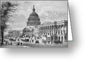 Cities Greeting Cards - U.s. Capitol Greeting Card by Granger