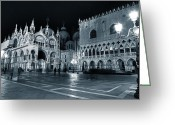 Basilica San Marco Greeting Cards - Venice Greeting Card by Joana Kruse