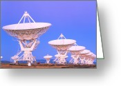 Antenna Greeting Cards - Very Large Array (vla) Radio Antennae Greeting Card by David Nunuk