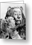 Lion Greeting Cards - Wizard Of Oz, 1939 Greeting Card by Granger