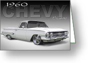 Street Rod Greeting Cards - 60 Chevy El Camino Greeting Card by Mike McGlothlen