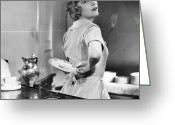 Film Still Greeting Cards - Silent Film Still Greeting Card by Granger