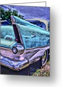 Photographers Ellipse Greeting Cards - 60s Plymouth Greeting Card by Corky Willis Atlanta Photography