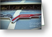 Flag Pyrography Greeting Cards - 60th Anniversary Corvette Greeting Card by AK Photography