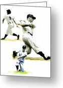 Photographs Drawings Greeting Cards - 61      Roger Maris Greeting Card by Iconic Images Art Gallery David Pucciarelli