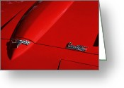 1964 Corvette Greeting Cards - 64 Corvette Hood Greeting Card by Dennis Hedberg