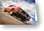 Custom Chev Greeting Cards - 65 Chevrolet Acadian Greeting Card by Phil 