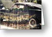 Office Art Greeting Cards - 68 Ford Mustang GT Greeting Card by Jayne Logan