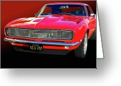 Camaro Greeting Cards - 68 SS Camaro Greeting Card by Bill Dutting