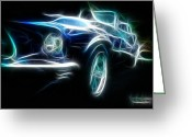 Fractalius Art Greeting Cards - 69 Mustang Mach 1 Fantasy Car Greeting Card by Paul Ward