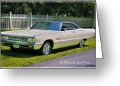 Classic Auto Greeting Cards - 69 Plymouth Sport Fury Greeting Card by Thomas Schoeller