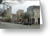 Igdaily Greeting Cards - 6th Street In Winter Greeting Card by James Granberry